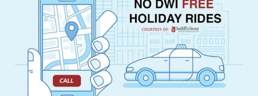 No DWI Free Holiday Rides - Thanksgiving 2018