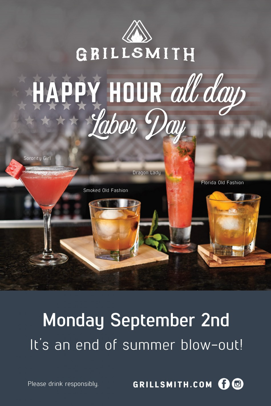 Happy Hour All Day at Grillsmith