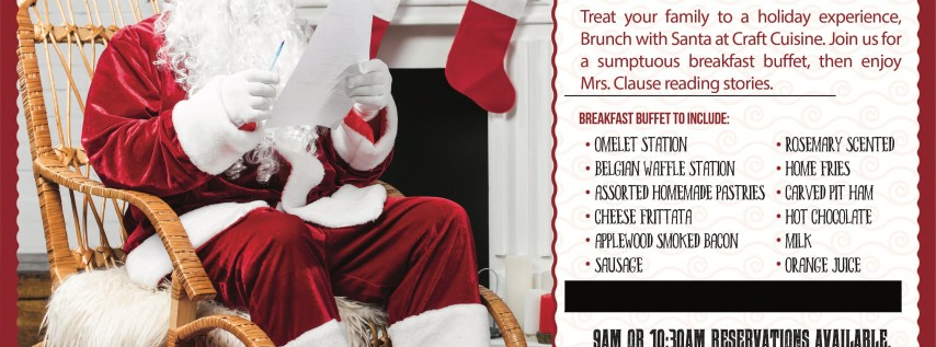 Brunch With Santa at Craft Cuisine