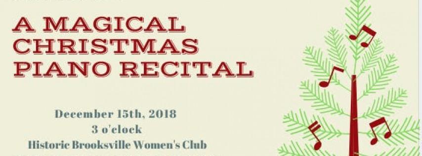 A Magial Christmas Piano Recital
