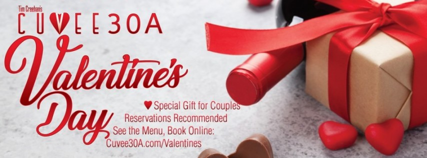 Valentine's Day Dinner at Cuvee 30A