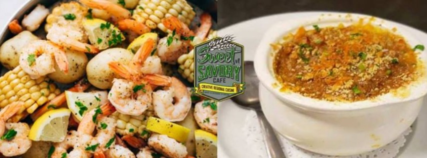 Friday - Seafood Boil & Stout Brisket Pie