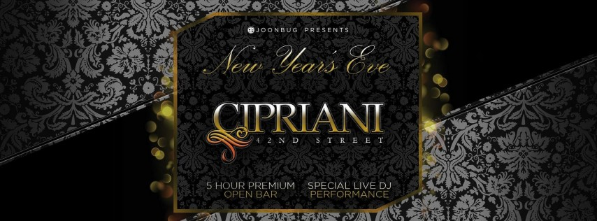 Joonbug.com Presents Cipriani 42nd St New Years Eve Party 2019