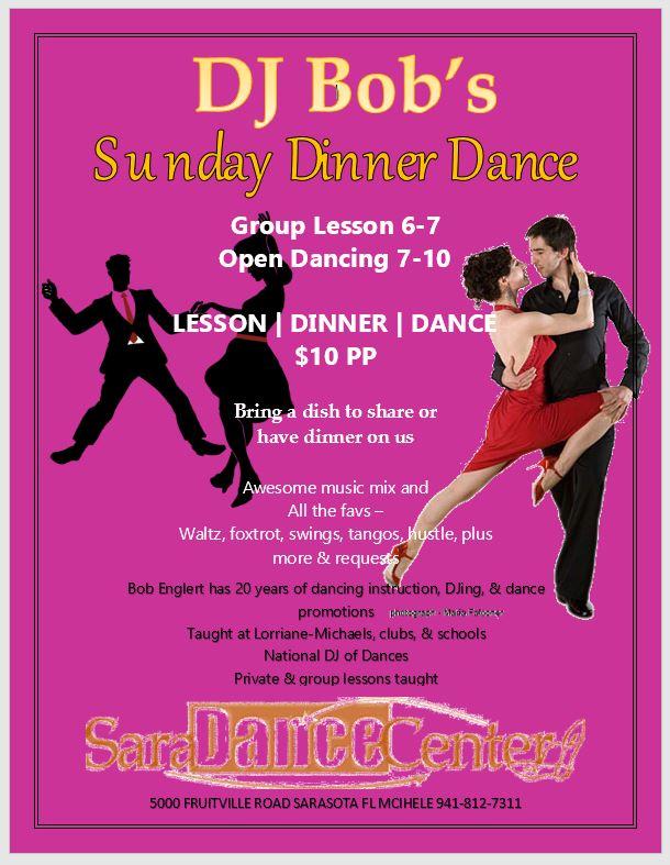 Every Sunday Ballroom Dinner Dance Party at Sara Dance Studio