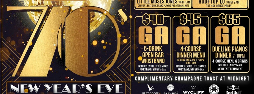VIEWHOUSE LITTLETON PRESENTS: 70S NEW YEARS EVE 2019