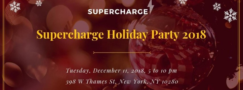 Supercharge Blockchain Holiday Party 2018