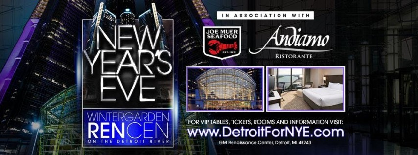 New Years Eve at The Wintergarden RenCen on the Detroit River