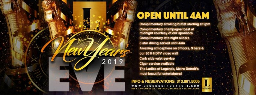 New Years Eve 2019 at Michigan's Premier venue