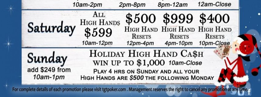 Holiday High Hand Cash