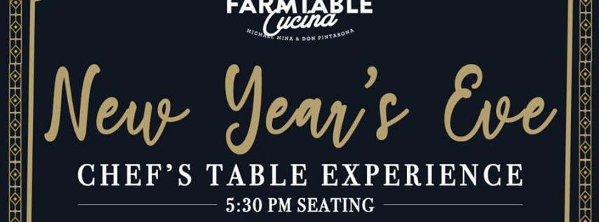 New Year's Eve Chef's Table Experience