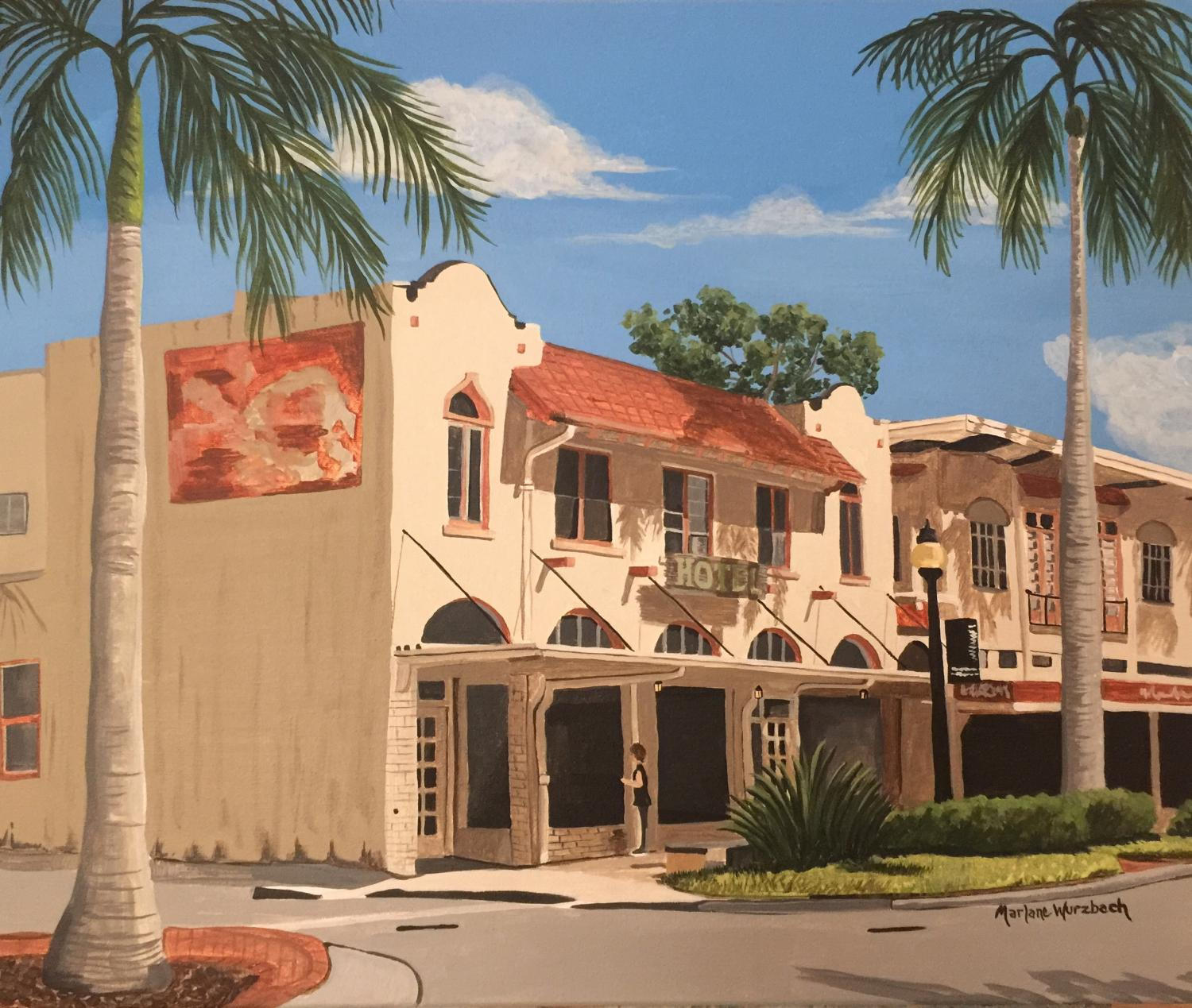 Historic Sarasota Architecture Paintings by Marlane Wurzbach this October 2021 a