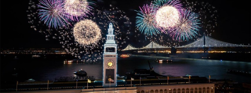 NYE 2019 - LIVE FIREWORKS ON THE EMBARCADERO - OPEN BAR