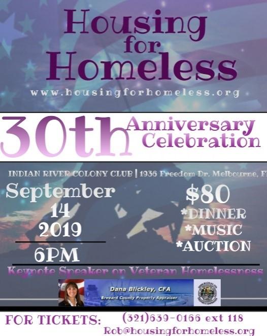 Housing for Homeless 30th Anniversary