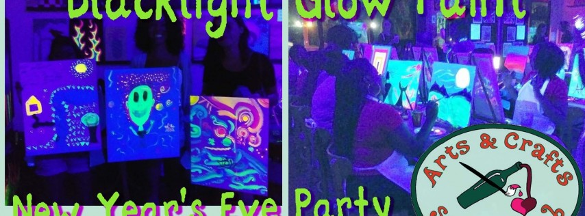 Blacklight Glow Paint New Year's Eve Party