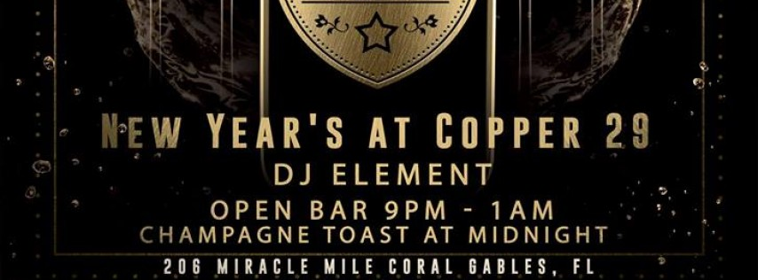 New Year's Eve at Copper 29