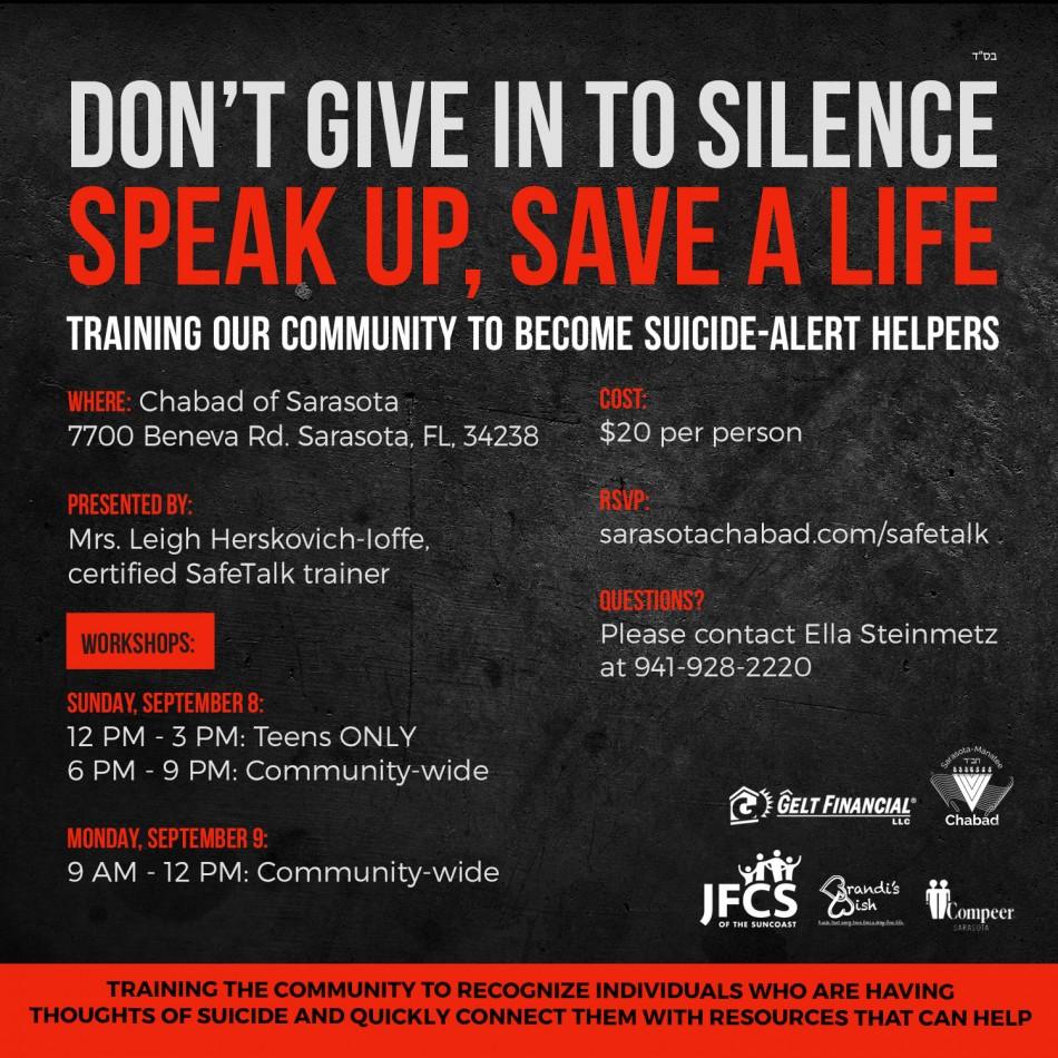 Speak up, Save a Life: Suicide Prevention Workshop