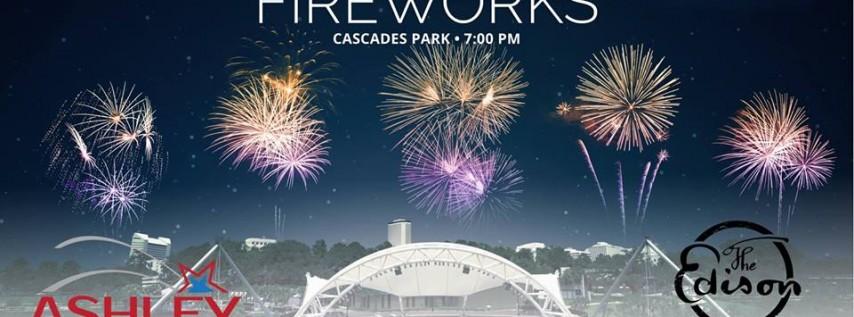 NYE Fireworks at Cascades Park