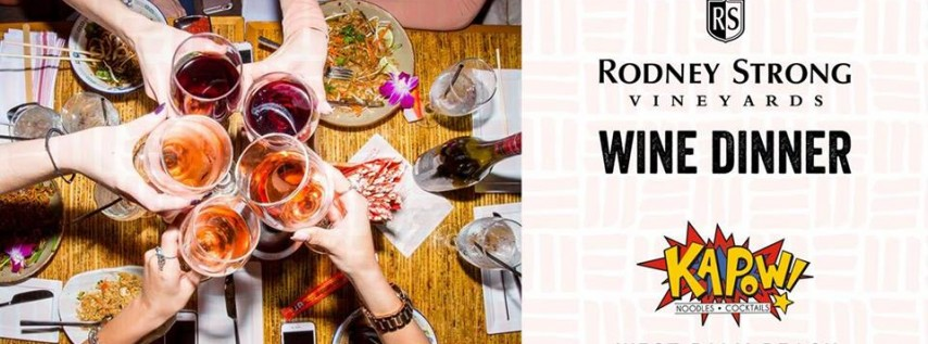 Rodney Strong Wine Pairing Dinner - WPB