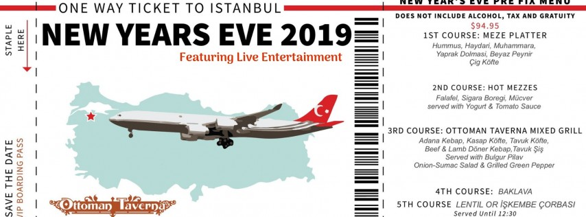 A One Way Ticket to Istanbul for New Years Eve at Ottoman Taverna