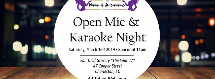 Open Mic & Karaoke - The Women of Awesomeness Convention