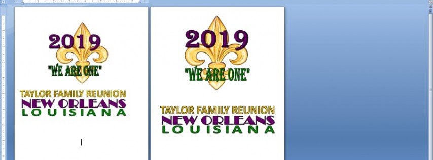 Taylor Family Reunion 2019