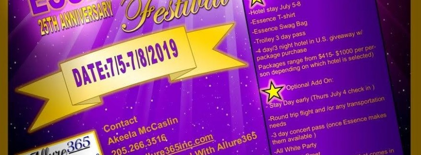 2019 Essence Festival Ultimate Gold Star Package by Allure365 Travel