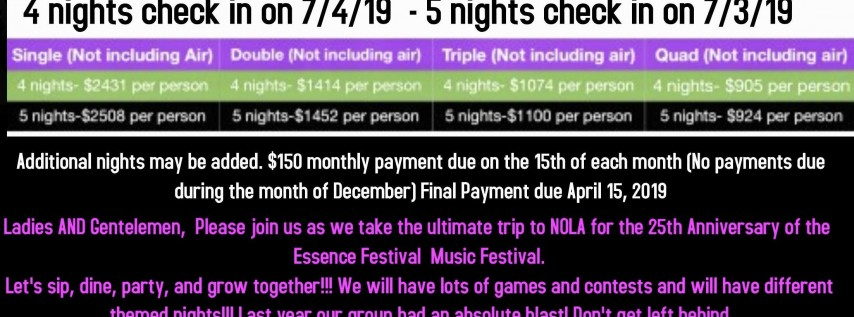 2019 Essence Music Festival Trip