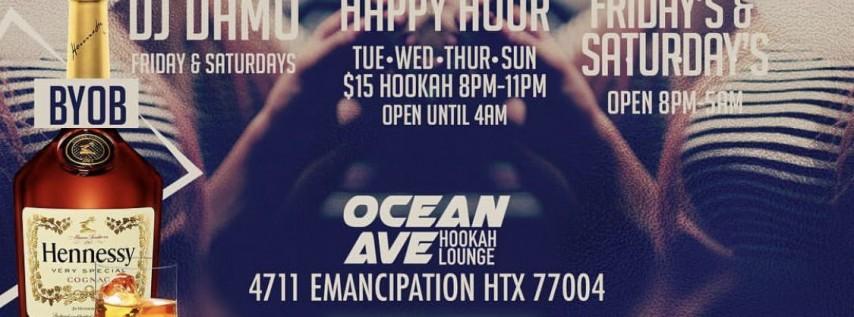 YES INDEED THURSDAYS NEW HOUSTON NIGHTLIFE OCEAN AVE HOOKAH LOUNGE