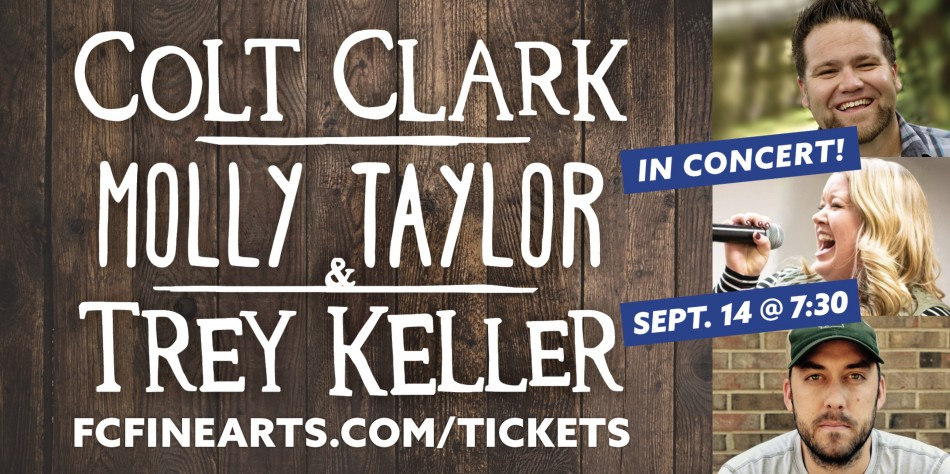 Colt Clark, Trey Keller and Molly Taylor in Concert!