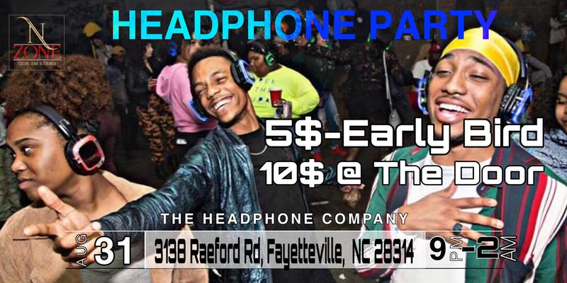 Silent Headphone Party-Fayettville, NC (Labor Day Weekend Edition)