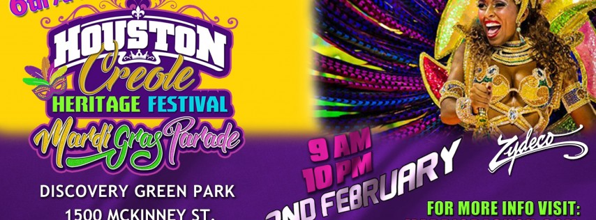 6th Annual Houston Creole Heritage Festival Mardi Gras and Parade