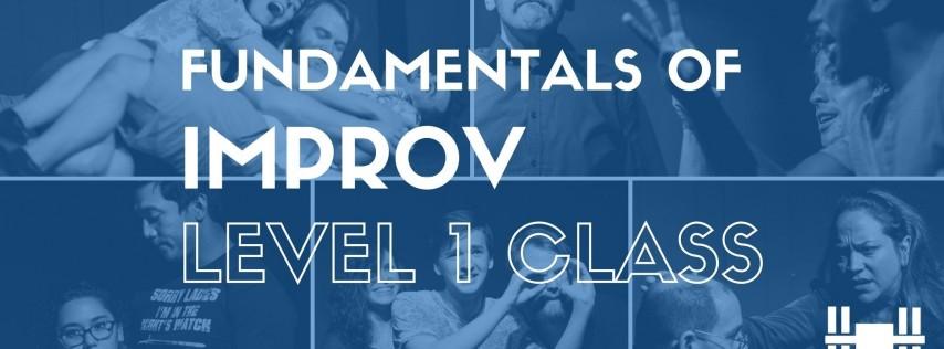 Class: Level 1 - Fundamentals of Long-Form Improv (Tuesdays 6-8pm; 9-week class)