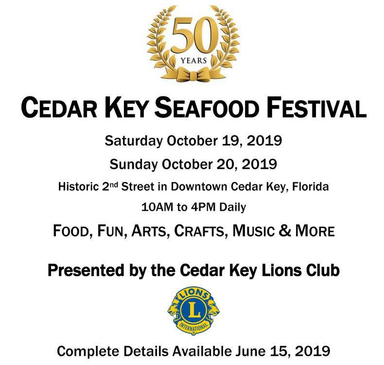 Cedar Key Seafood Festival October 19-20