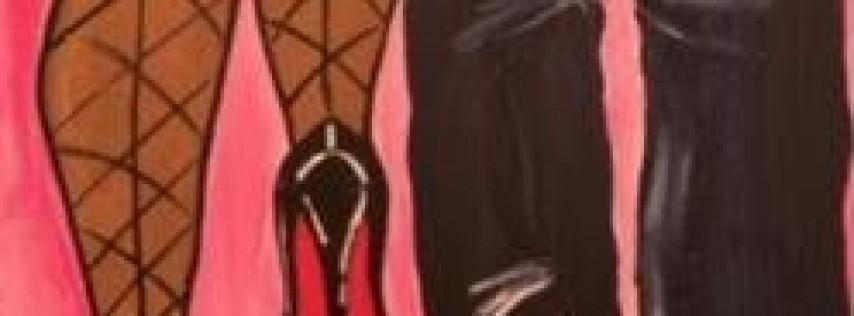 """??Long Heels,  Red Bottoms Stroke & Sip Edition??"""