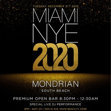 Mondrian South Beach Hotel's NYE Party