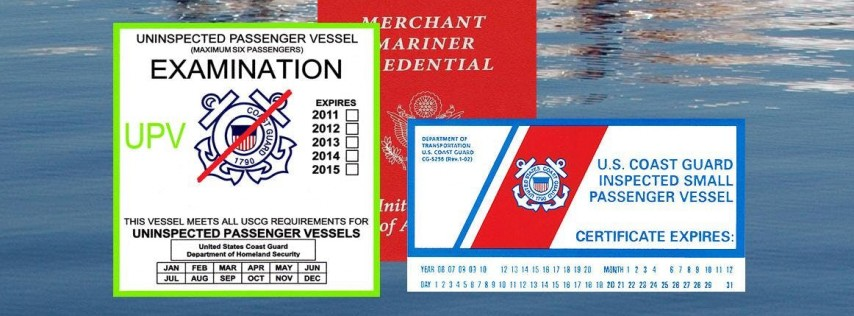 US Coast Guard - Passenger for Hire Workshop for Owners and Operators