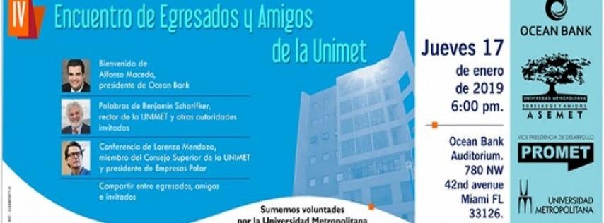 IV Encuentro de Egresados/amigos de la Universidad Metropolitana,Miami 2019