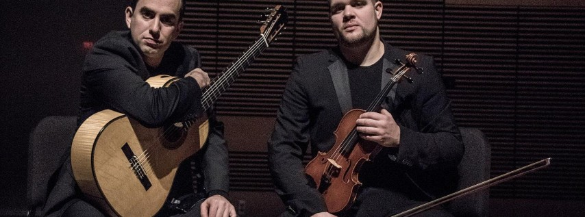 Sonidos Duo with violinist, William Knuth and guitarist, Adam Levin.
