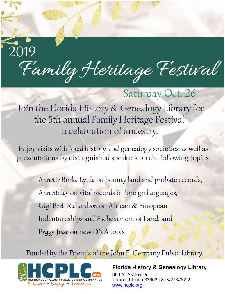 2019 Family Heritage Festival