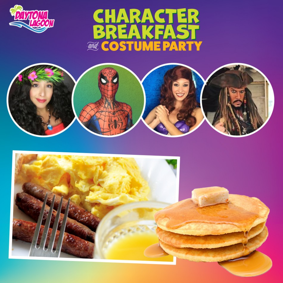 Character Breakfast and Costume Party at Daytona Lagoon!