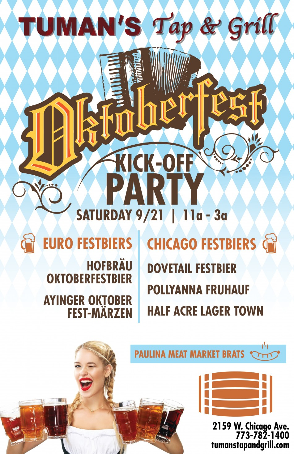 Oktoberfest Kick-Off Party at Tuman's Tap & Grill