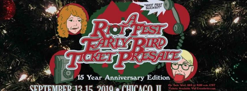 Riot Fest 2019 | Early Bird Presale
