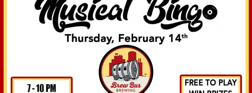 Musical Bingo Nation at Brew Bus Brewing - 2/14