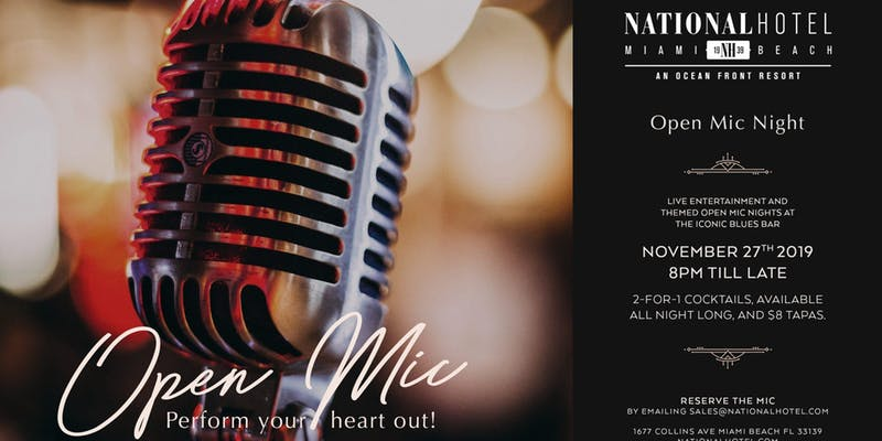Open Mic at The National Hotel