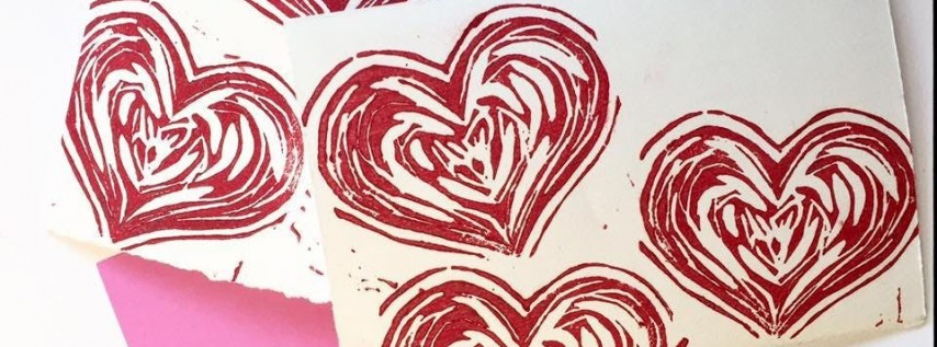 Valentine Stamp & Card Making: Block Printmaking