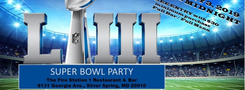 Super Bowl Party at The Fire Station 1 Restaurant & Bar