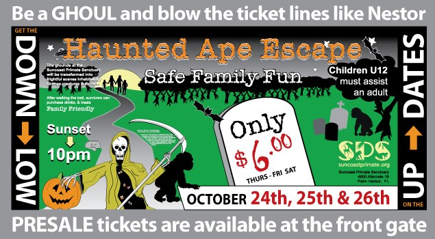 Suncoast Primate Sanctuary Foundation Inc.'s Haunted Ape Escape in Palm Harbor