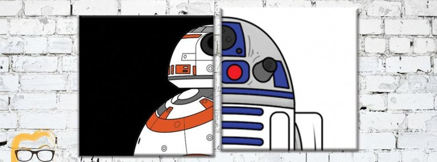 Star Wars - R2D2 & BB8 Paintings - Lauren's Art Club