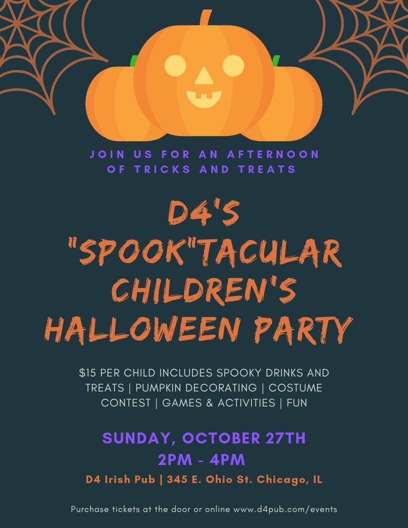 D4's Kid's 'Spook'tacular Halloween Party