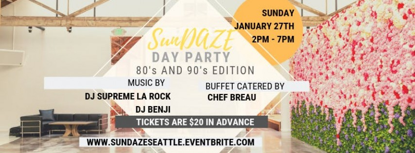 SunDAZE Day Party: 80's and 90's Edition